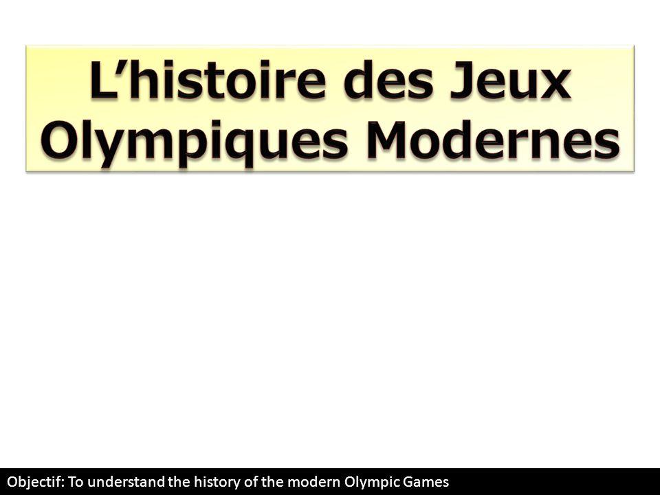 L'histoire des Jeux Olympiques Modernes