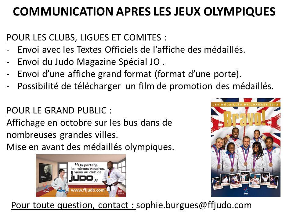 COMMUNICATION APRES LES JEUX OLYMPIQUES