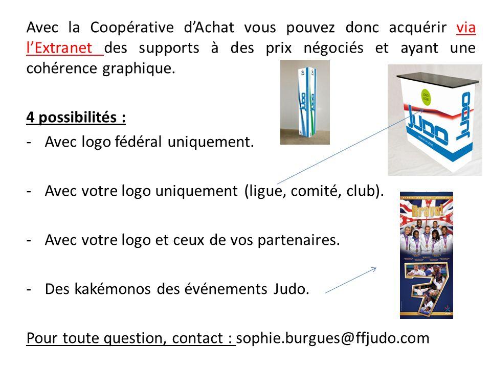 Avec la Coopérative d'Achat vous pouvez donc acquérir via l'Extranet des supports à des prix négociés et ayant une cohérence graphique.