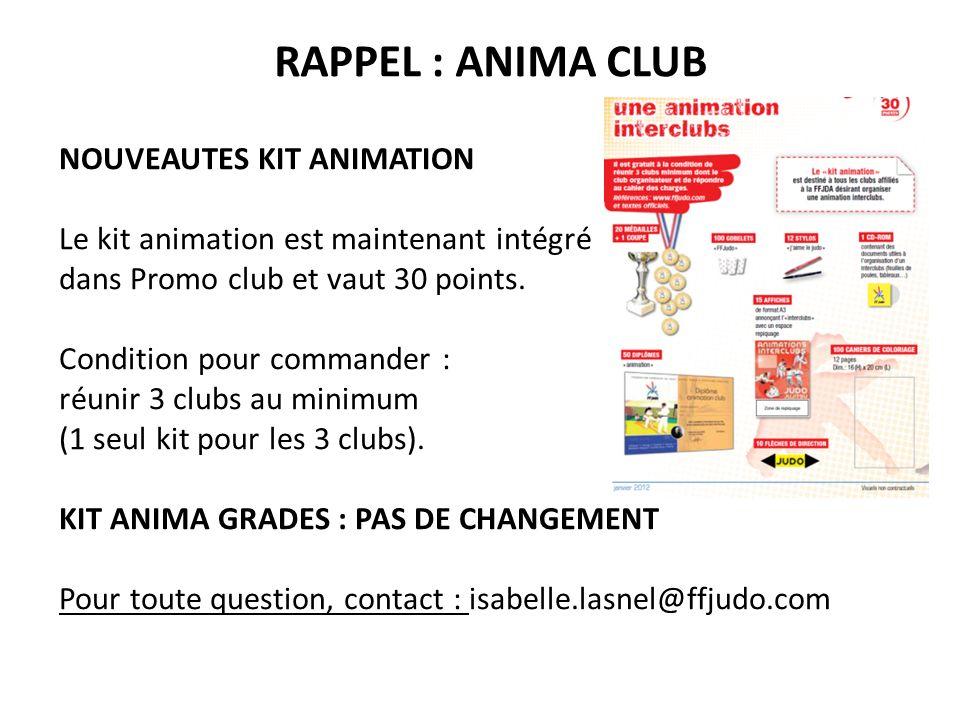 RAPPEL : ANIMA CLUB NOUVEAUTES KIT ANIMATION