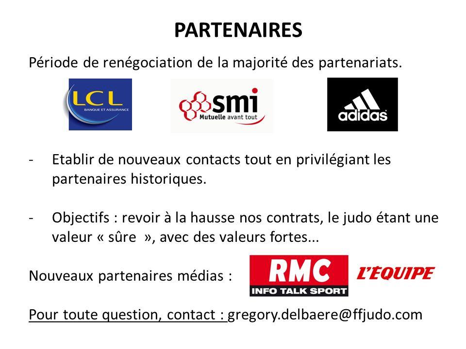PARTENAIRES Période de renégociation de la majorité des partenariats.