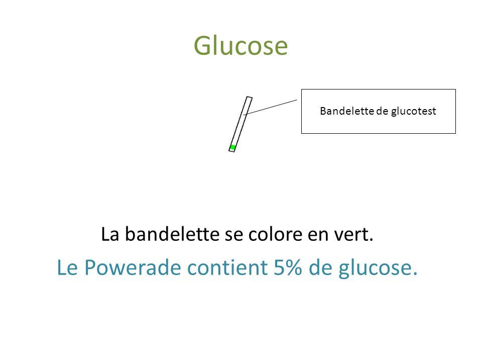 Glucose Le Powerade contient 5% de glucose.
