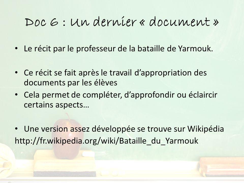 Doc 6 : Un dernier « document »