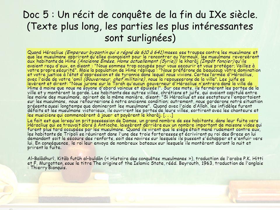 Doc 5 : Un récit de conquête de la fin du IXe siècle