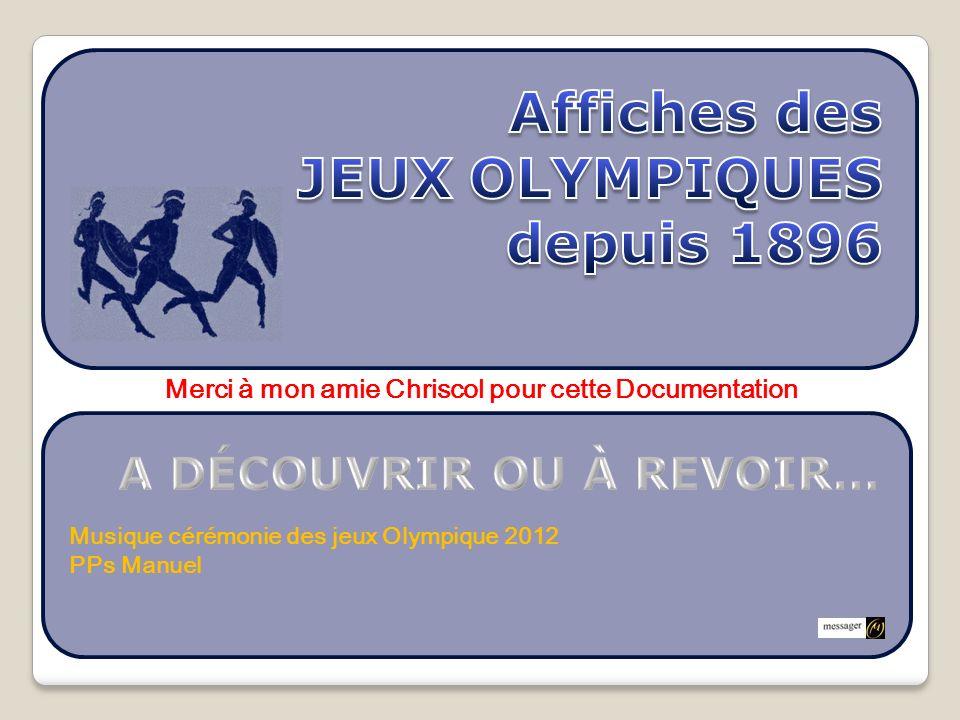 Affiches des JEUX OLYMPIQUES depuis 1896