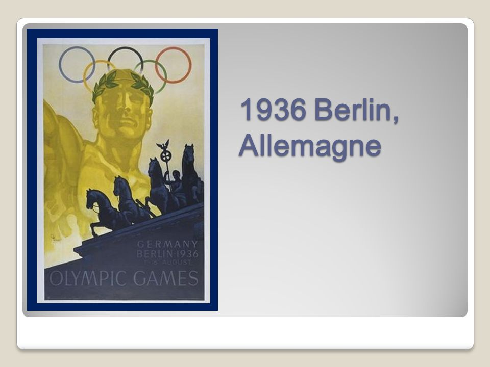 1936 Berlin, Allemagne