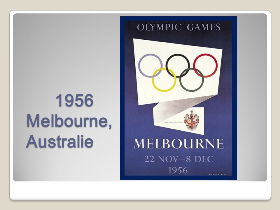 1956 Melbourne, Australie