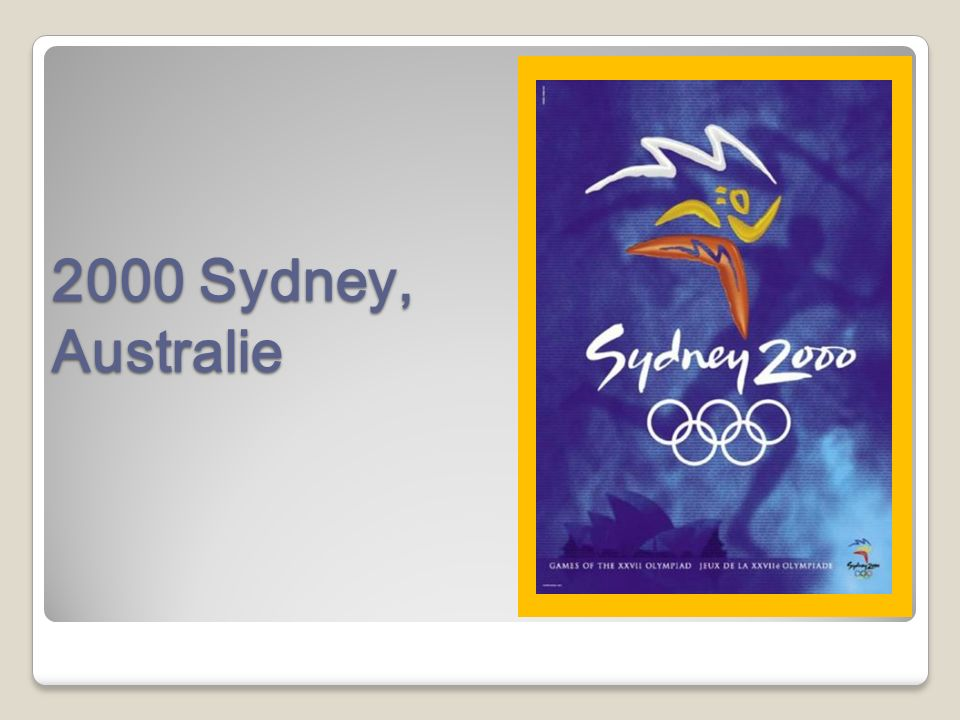 2000 Sydney, Australie