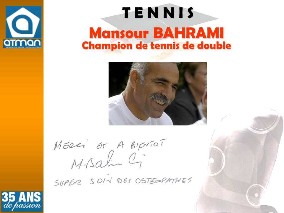 Champion de tennis de double