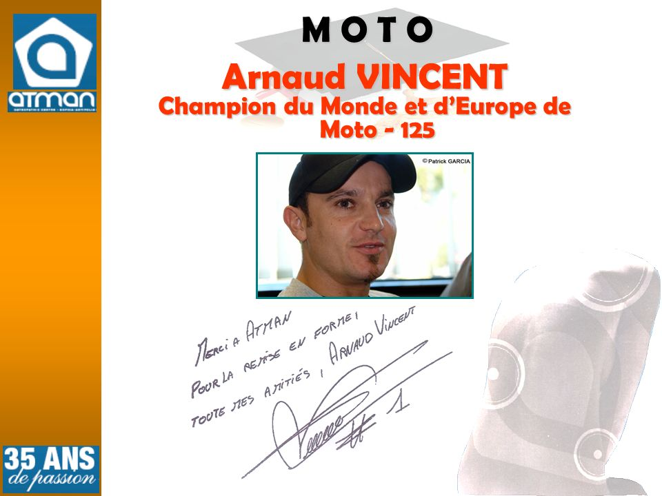 Champion du Monde et d'Europe de Moto - 125