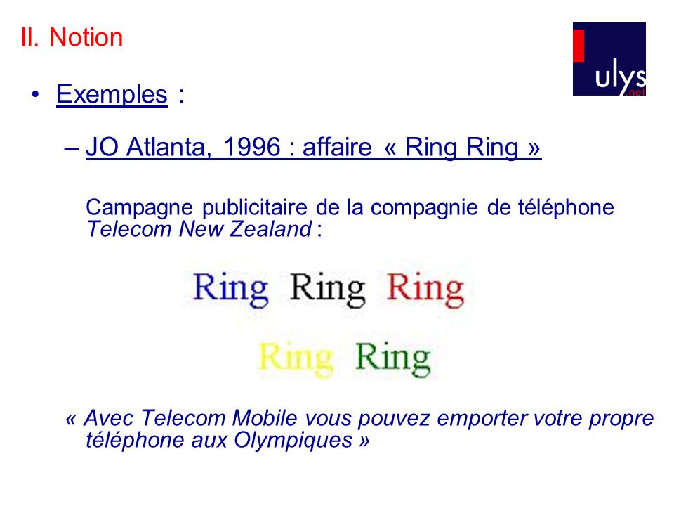 JO Atlanta, 1996 : affaire « Ring Ring »