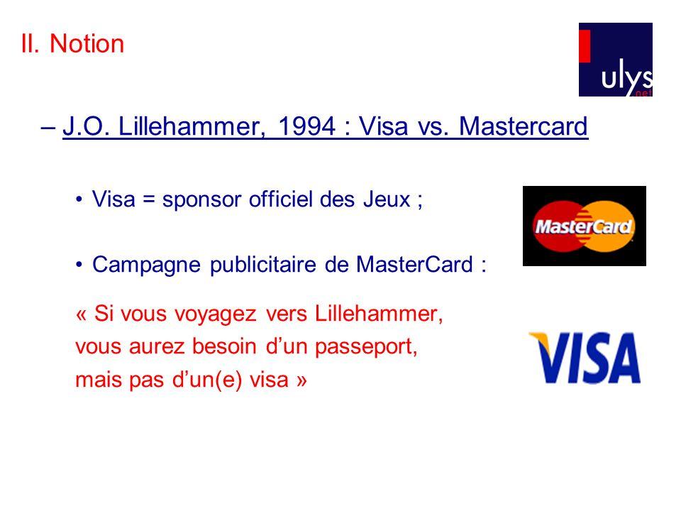 J.O. Lillehammer, 1994 : Visa vs. Mastercard