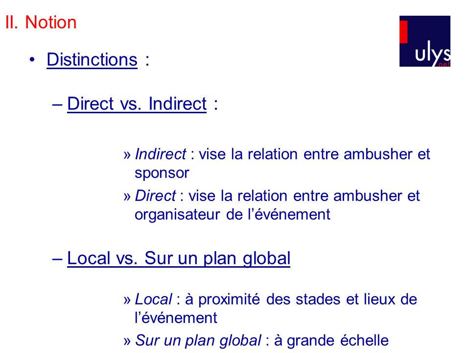 Local vs. Sur un plan global