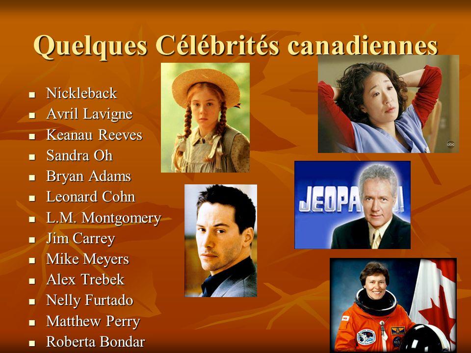 Quelques Célébrités canadiennes