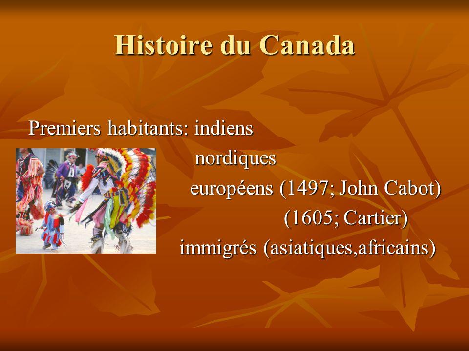Histoire du Canada Premiers habitants: indiens nordiques