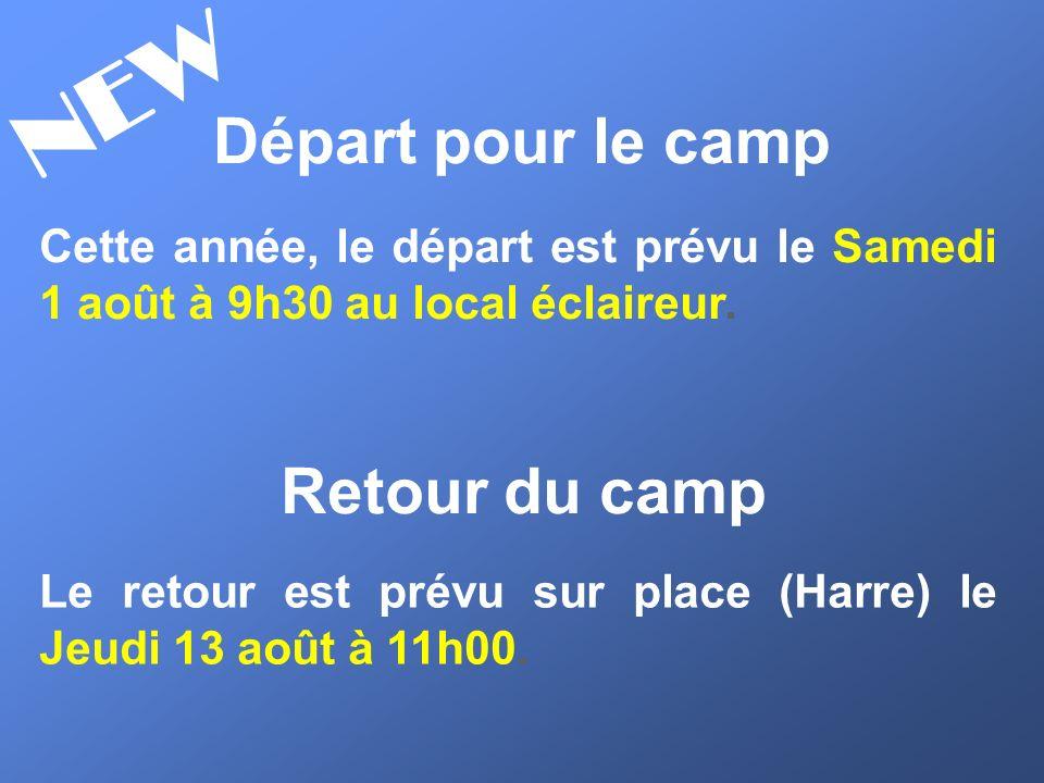 NEW Départ pour le camp Retour du camp