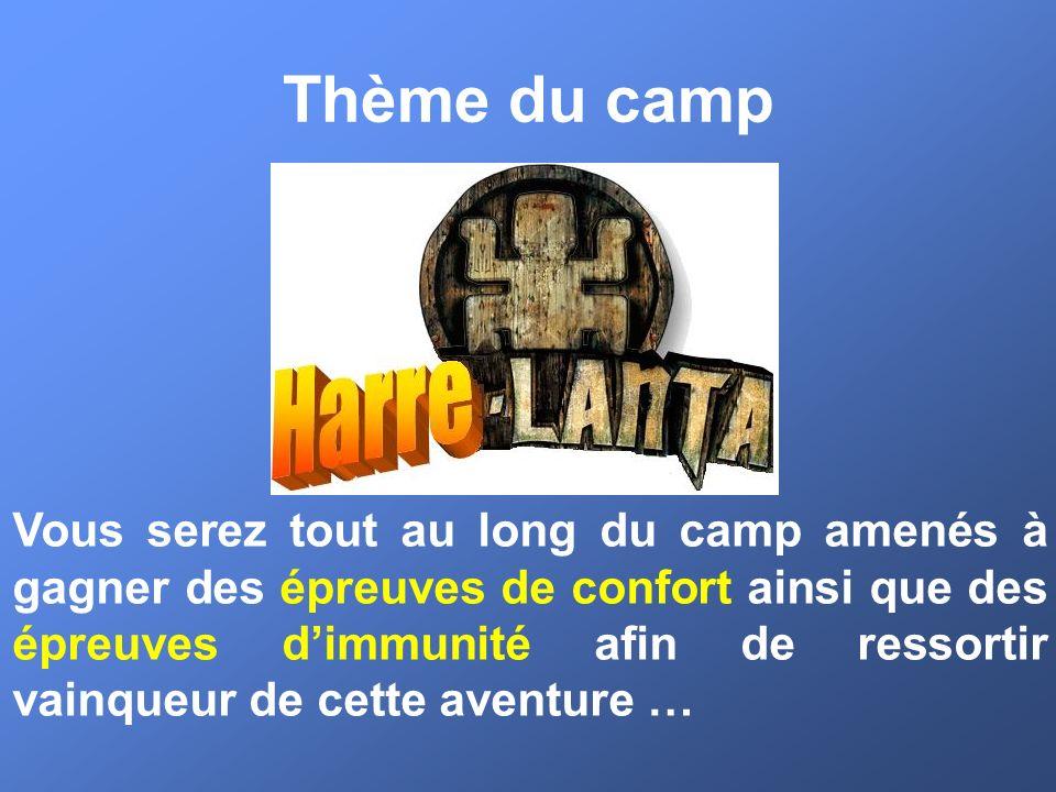 Thème du camp