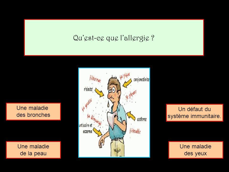 Qu'est-ce que l'allergie