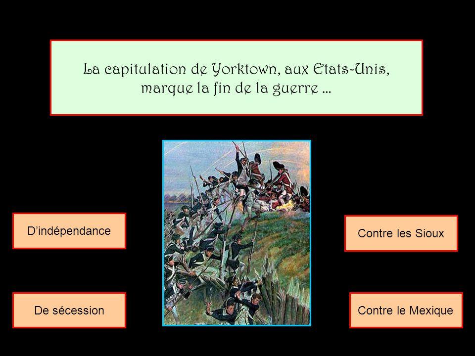 La capitulation de Yorktown, aux Etats-Unis,