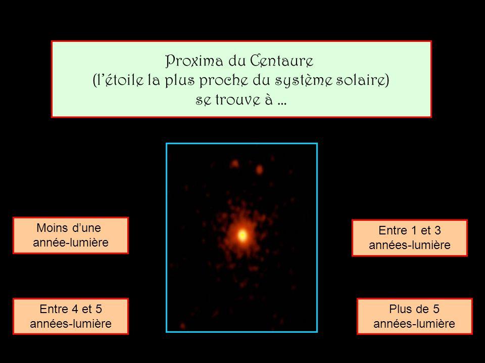 (l'étoile la plus proche du système solaire)