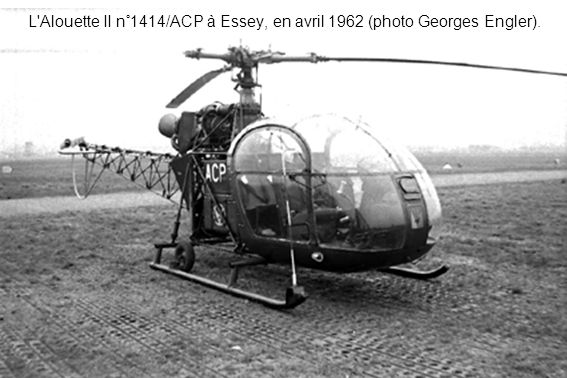 L Alouette II n°1414/ACP à Essey, en avril 1962 (photo Georges Engler).