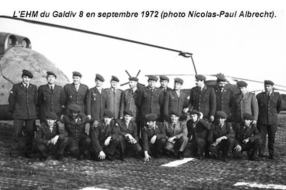 L EHM du Galdiv 8 en septembre 1972 (photo Nicolas-Paul Albrecht).