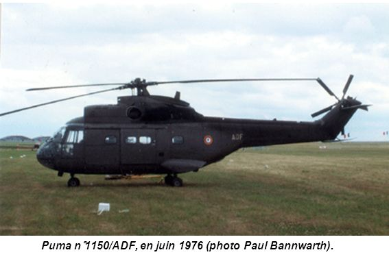 Puma n°1150/ADF, en juin 1976 (photo Paul Bannwarth).