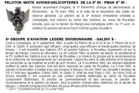 PELOTON MIXTE AVIONS-HELICOPTERES DE LA 8e DI - PMAH 8e DI -