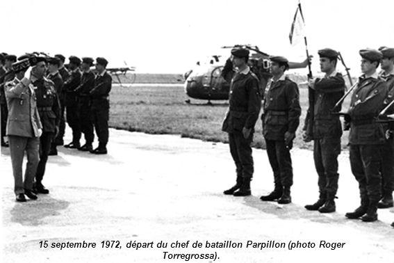 15 septembre 1972, départ du chef de bataillon Parpillon (photo Roger Torregrossa).