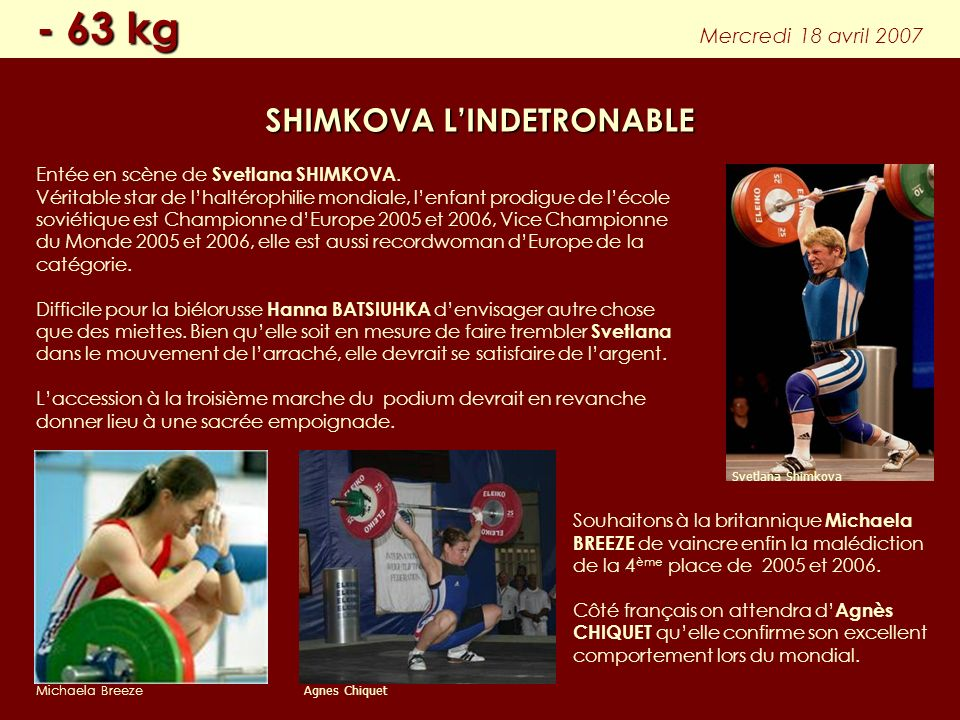SHIMKOVA L'INDETRONABLE