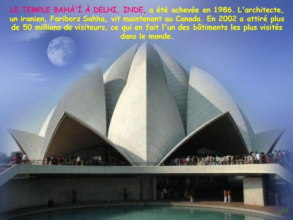 LE TEMPLE BAHÁ Í À DELHI, INDE, a été achevée en 1986