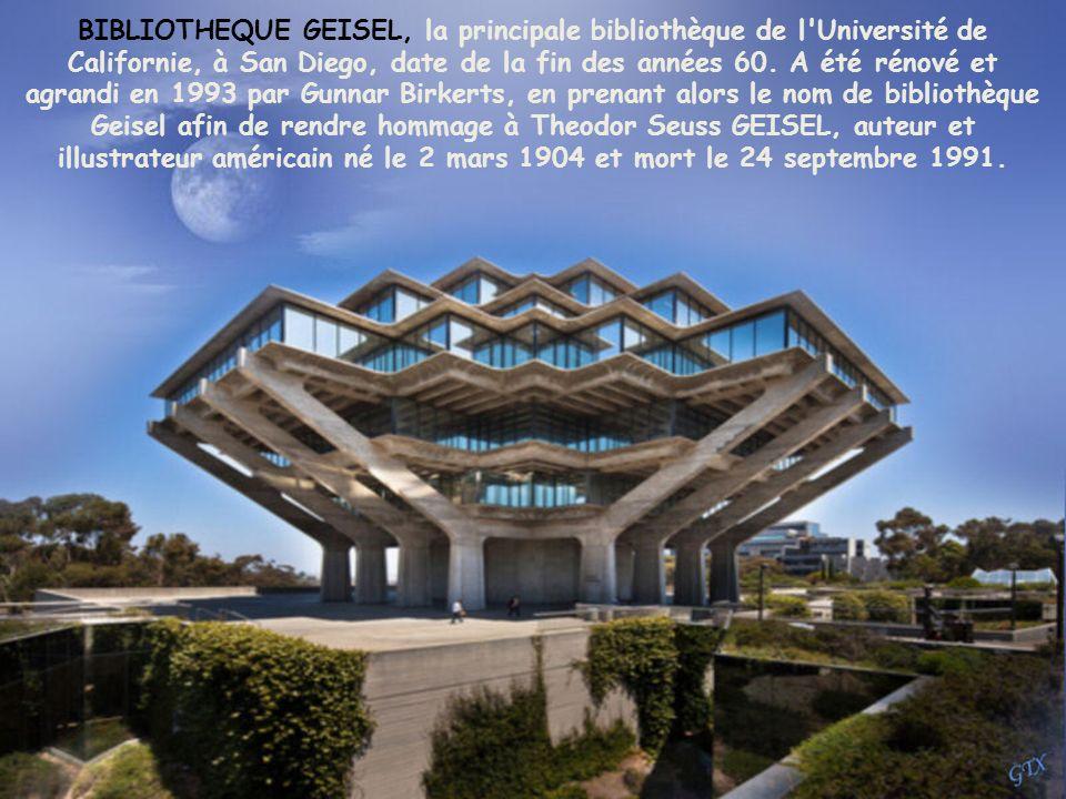 BIBLIOTHEQUE GEISEL, la principale bibliothèque de l Université de Californie, à San Diego, date de la fin des années 60.