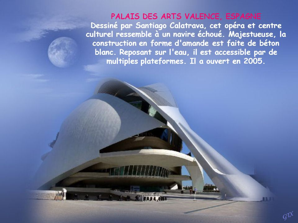 PALAIS DES ARTS VALENCE, ESPAGNE