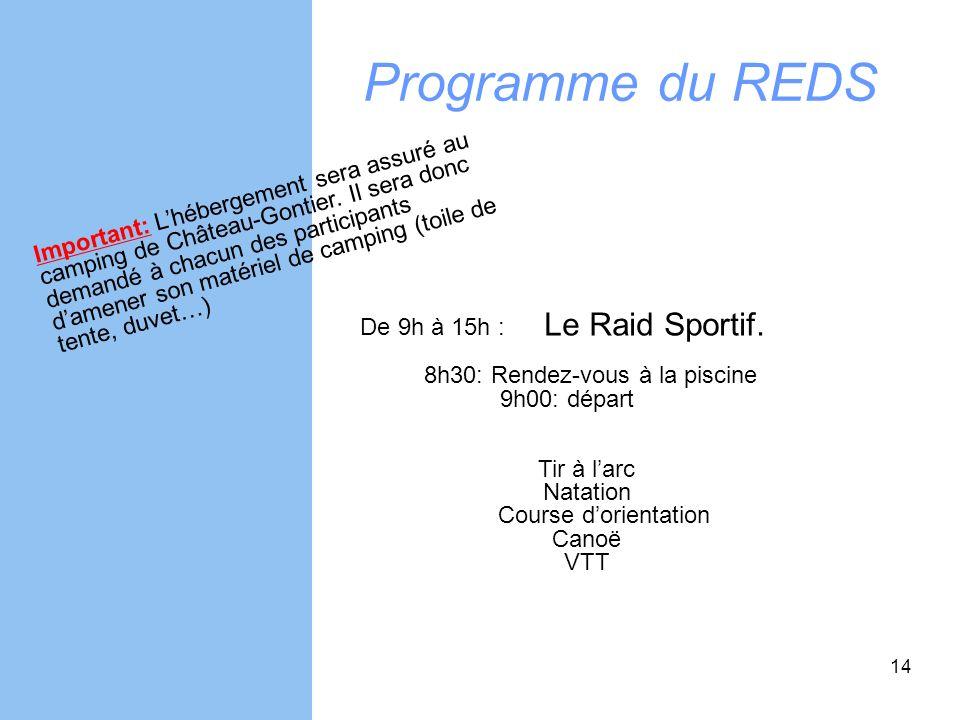 Natation Course d'orientation Canoë VTT
