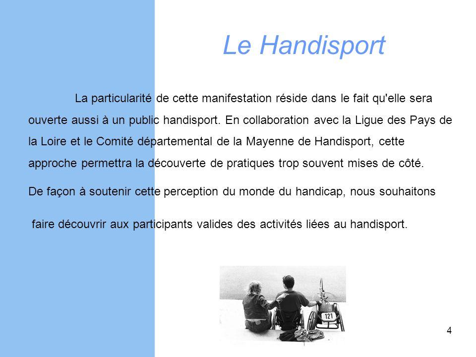 Le Handisport La particularité de cette manifestation réside dans le fait qu elle sera.