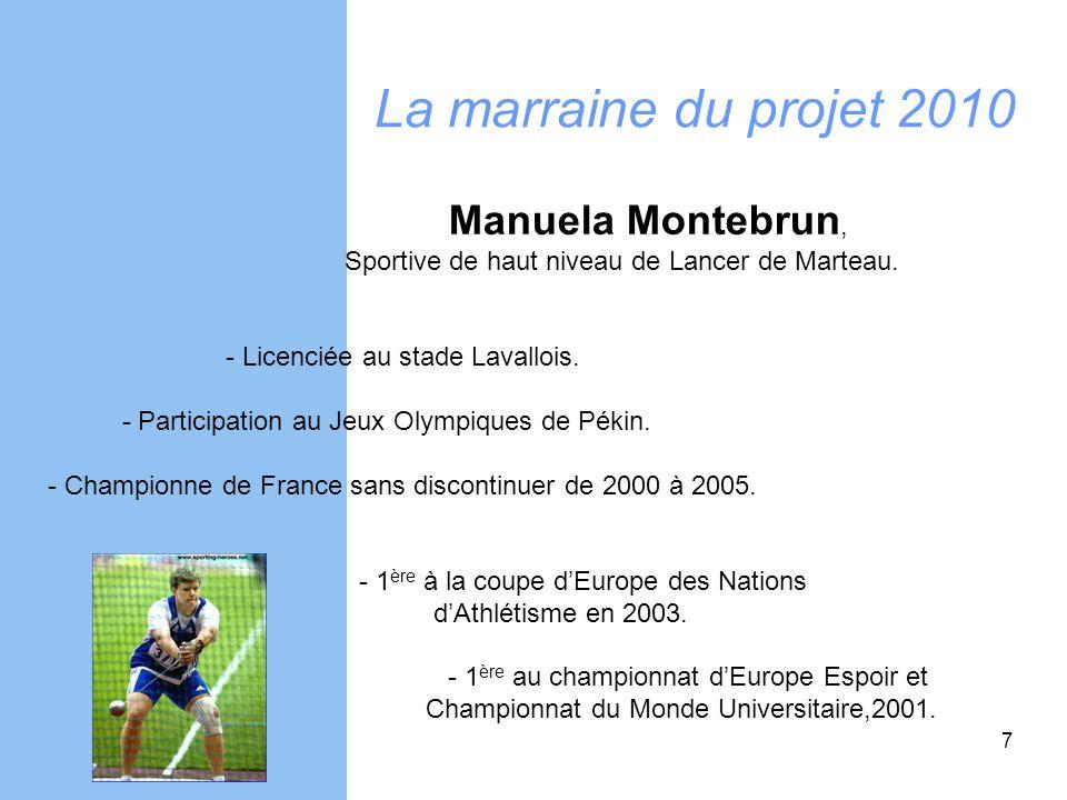 La marraine du projet 2010 Manuela Montebrun,