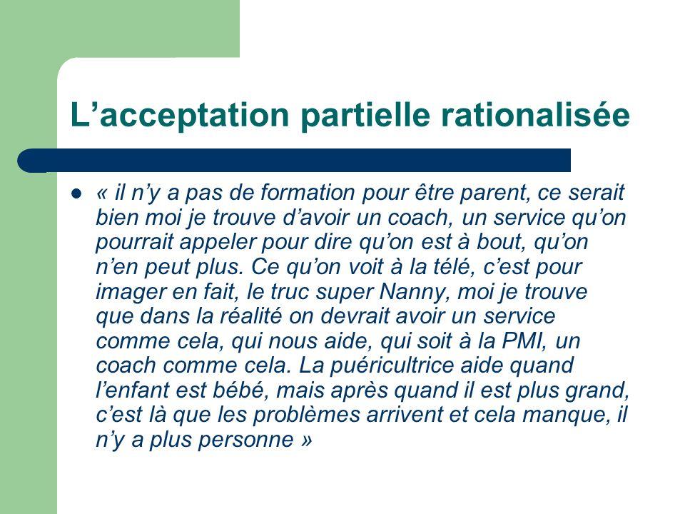 L'acceptation partielle rationalisée