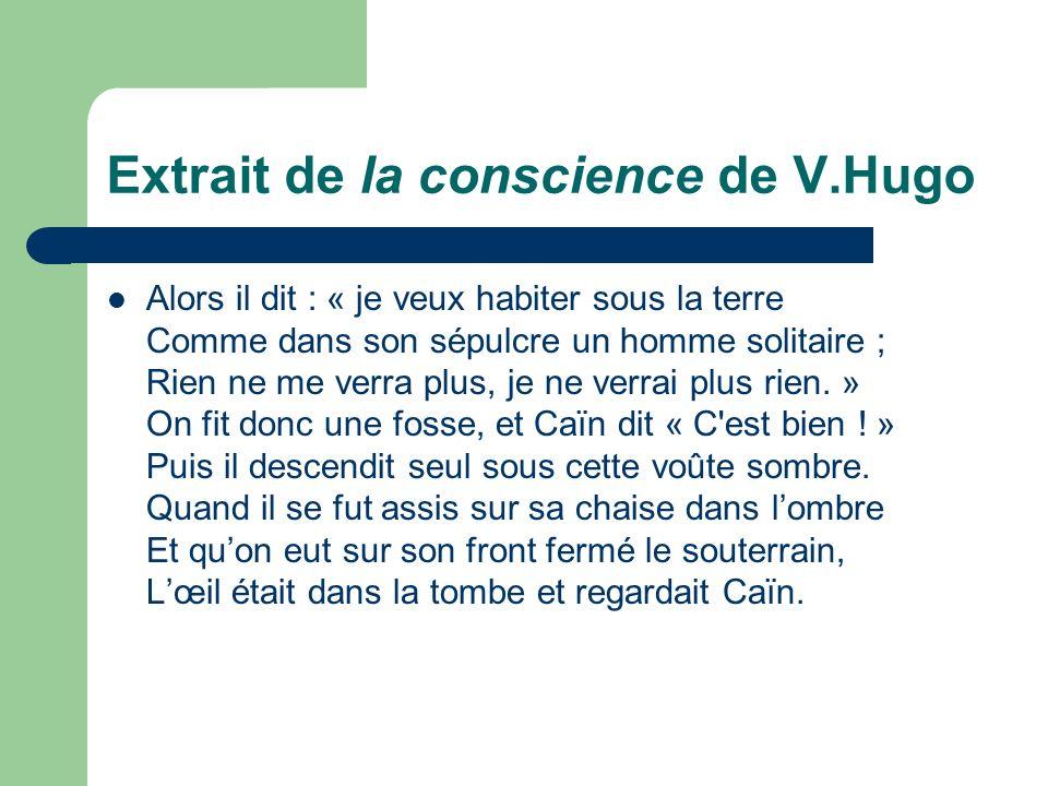 Extrait de la conscience de V.Hugo