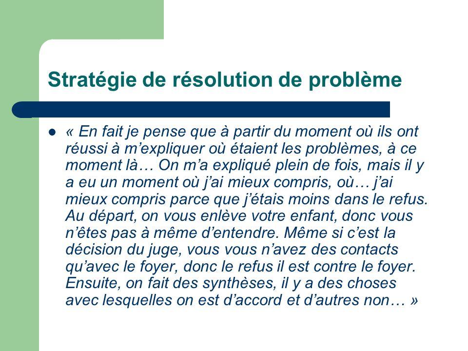 Stratégie de résolution de problème