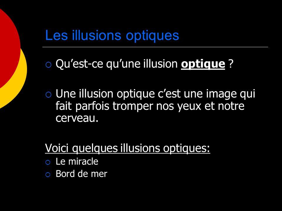 Les illusions optiques