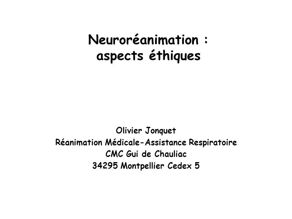 Neuroréanimation : aspects éthiques