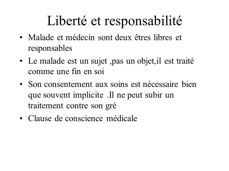 Liberté et responsabilité