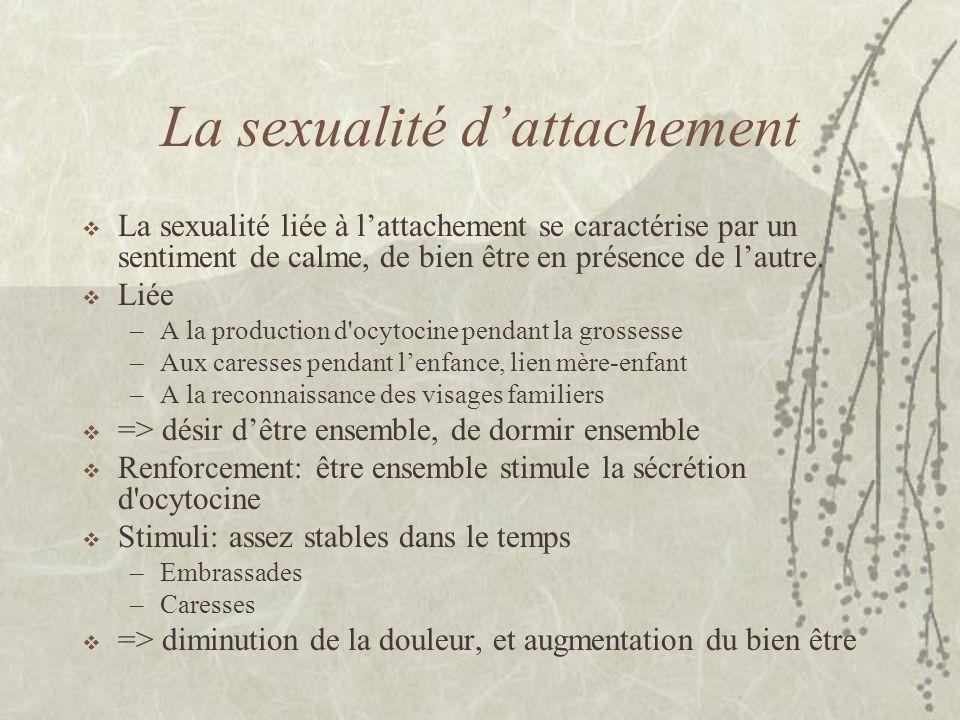 La sexualité d'attachement