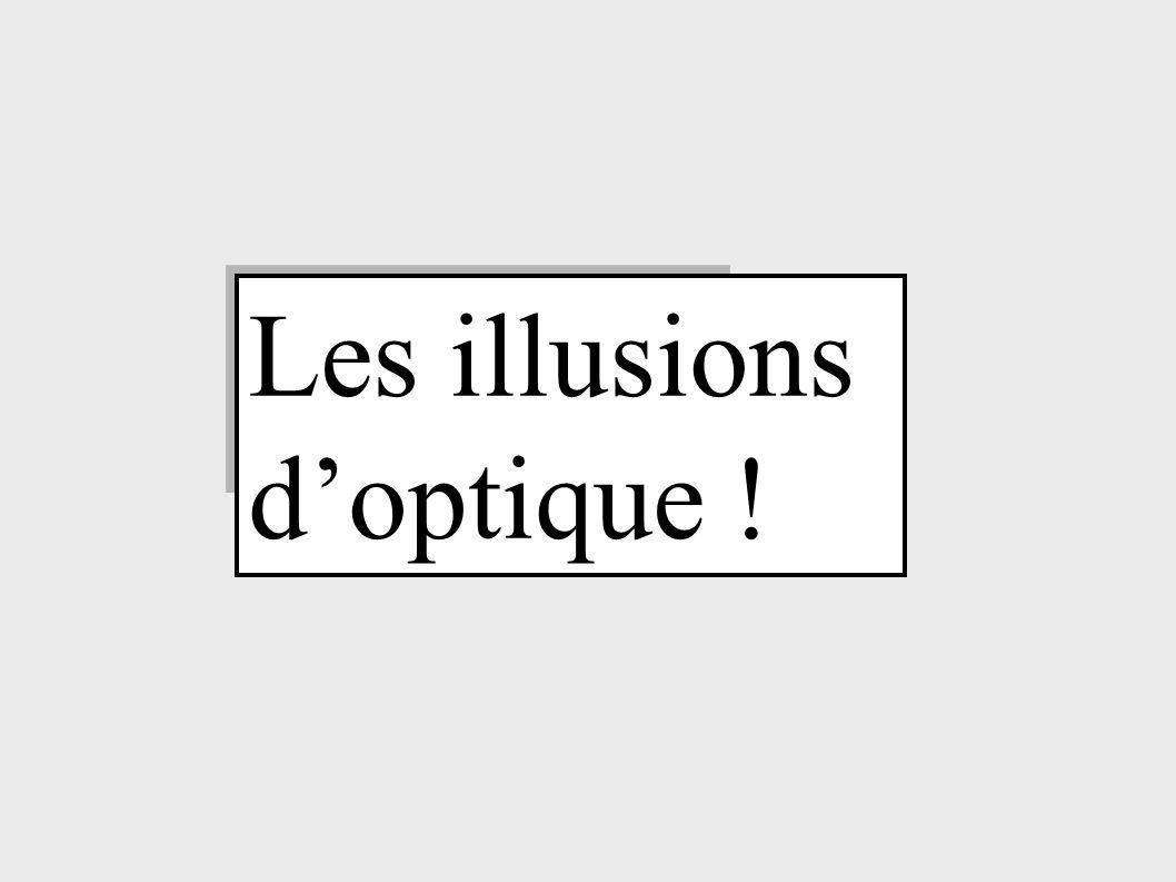 Les illusions d'optique !
