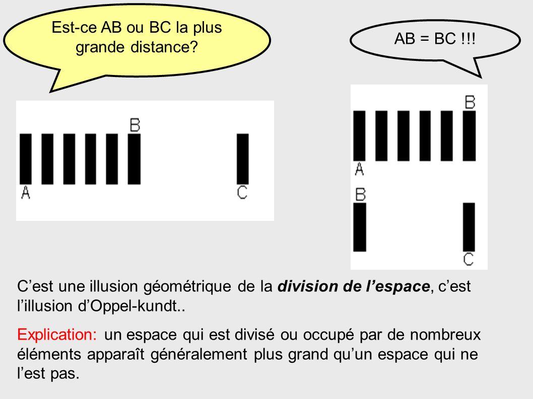 Est-ce AB ou BC la plus grande distance