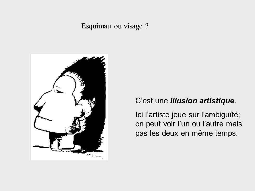 Esquimau ou visage C'est une illusion artistique.