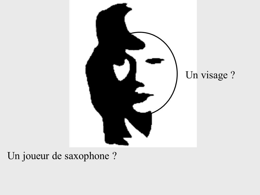 Un visage Un joueur de saxophone