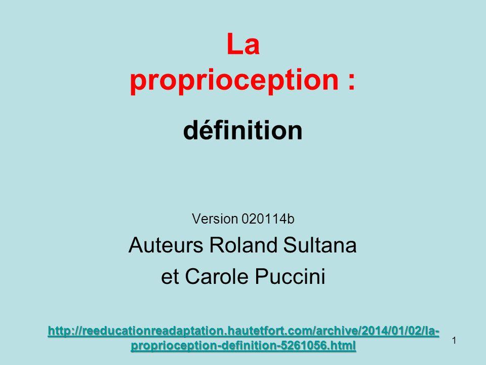 La proprioception : définition