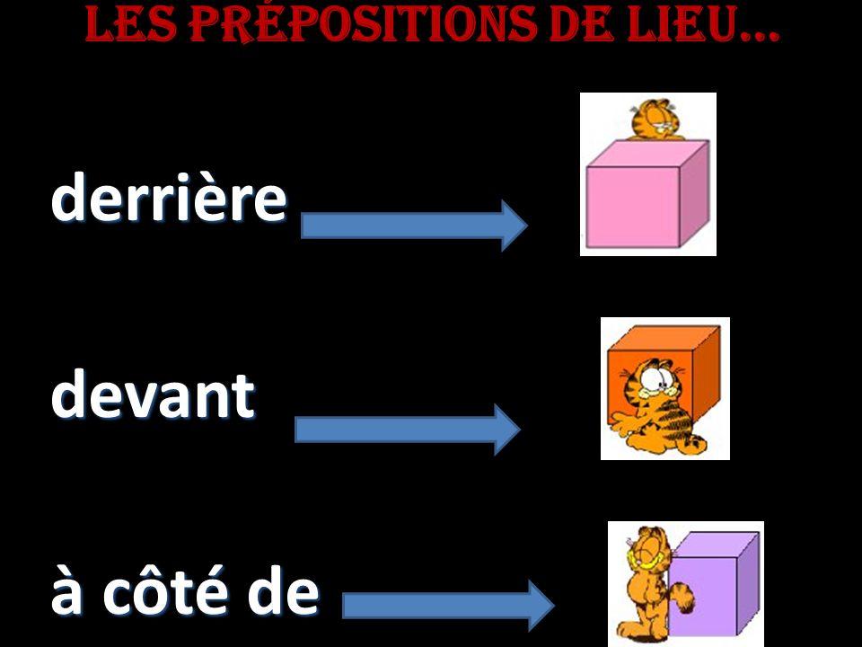 Les prépositions de lieu...