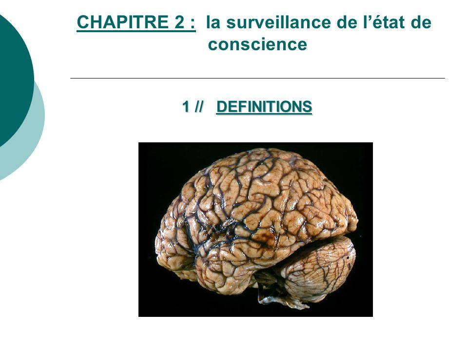 CHAPITRE 2 : la surveillance de l'état de conscience